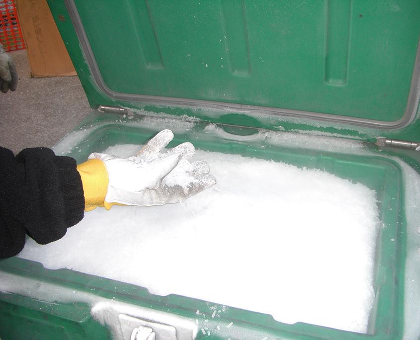 Criosabbiatura con ghiaccio secco