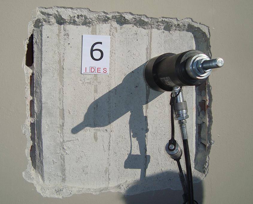 Prove di estrazione Pull-out su calcestruzzo