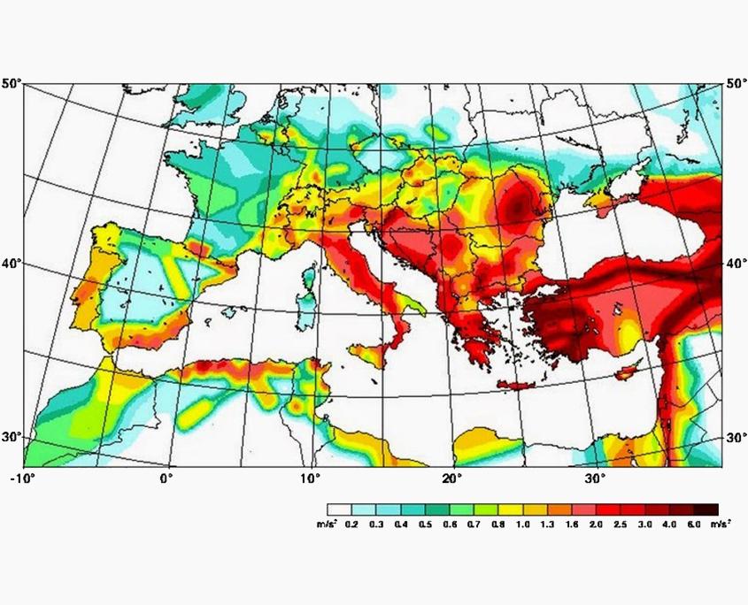 Mappa pericolosità sismica