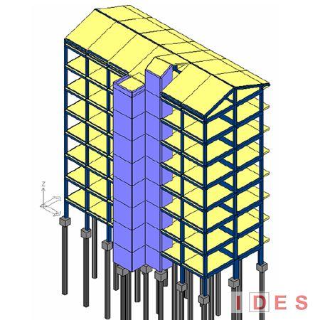 Modello numerico di costruzione in cemento armato