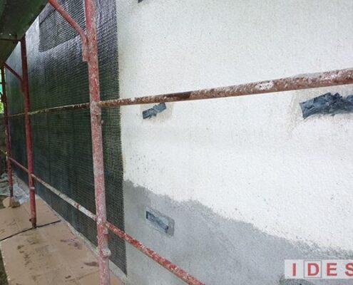 Villa unifamiliare in Frazione Arafranca Pinaco - Amatrice (RI) - Intervento di rinforzo strtturale delle murature in fibre di carbonio