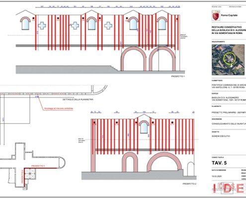 """Basilica di """"S. Alessandro"""" - Roma - Progetto di restauro conservativo"""
