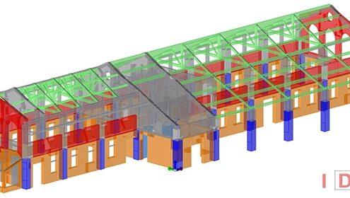 "Biblioteca Comunale ""Cascina Ovi"" - Segrate (MI) - Modello 3D"